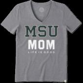 Women's Michigan State Mom Cool Vee