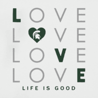Women's Michigan State Spartans Love Stack Sleeveless Tee