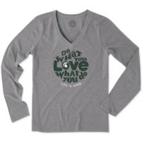 Women's Michigan State Spartans Retro Dwyl Circle Long Sleeve Cool Vee