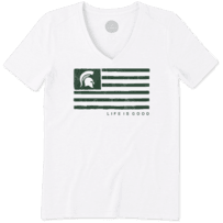 Women's Michigan State Team Flag Cool Vee
