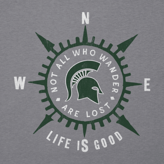 Women's Michigan State University Wander Compass Cool Vee