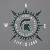 Women's Michigan State University Wander Compass Cool Vee