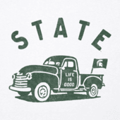 Women's Michigan State Vintage Truck Long Sleeve Cool Vee