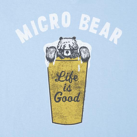 Women's Micro Bear Long Sleeve Crusher Vee