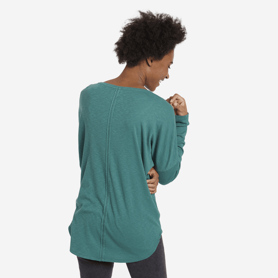 Women's Mini Tree Carefree Long Sleeve Pocket Tee