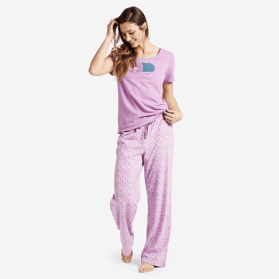 Women's Mini Hearts Jersey Sleep Pants