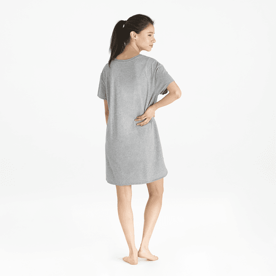 Women's Moon & Stars Snuggle Up Relaxed Sleep Dress