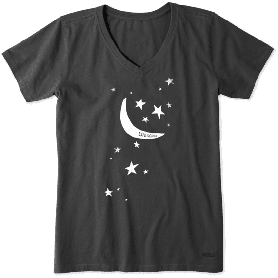 Women's Moon And Stars Crusher Vee