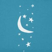 Women's Moon And Stars Long Sleeve Crusher Vee