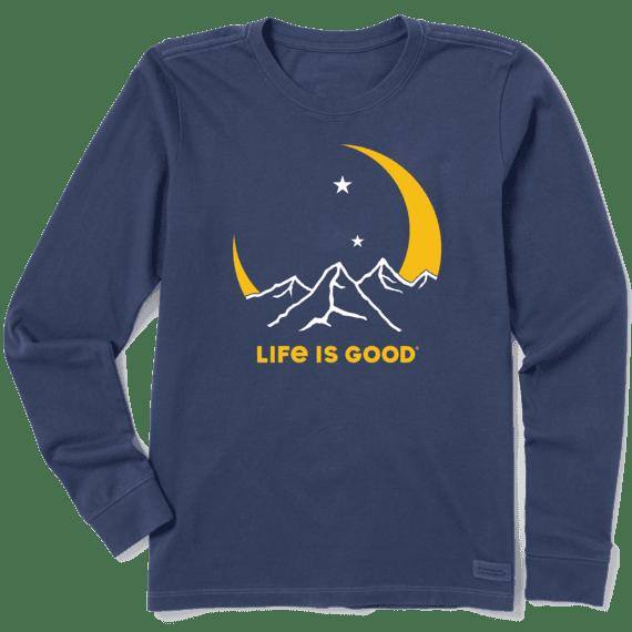 Women's Moon Mountains Long Sleeve Crusher Tee