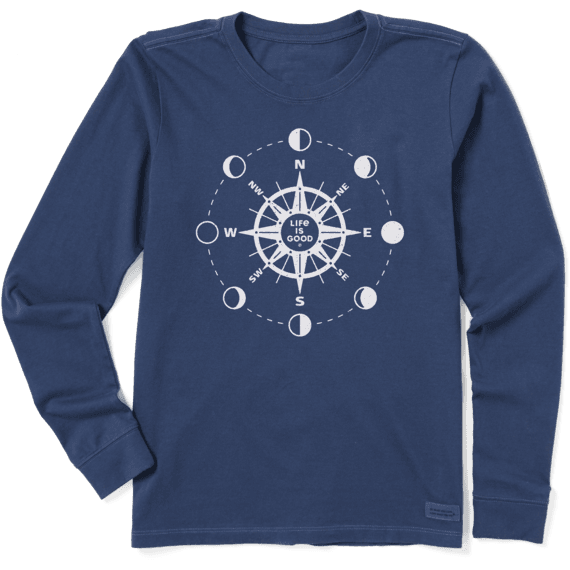 Women's Moon Phase Compass Crusher Long Sleeve