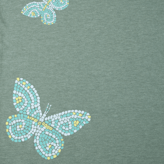 Women's Mosaic Butterflies Long Sleeve Cool Vee