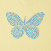Women's Mosaic Butterfly Crusher Vee