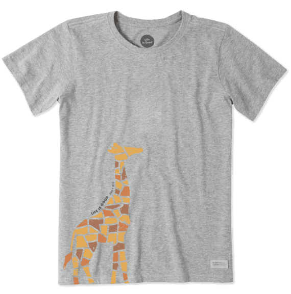 981f8dcf Women's Mosaic Giraffe Crusher Tee | Life is Good® Official Site