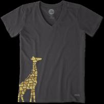Women's Mosaic Giraffe Crusher Vee