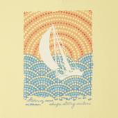 Women's Mosaic Sailboat Crusher Vee