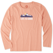 Women's Mountain Scene Long Sleeve Cool Tee