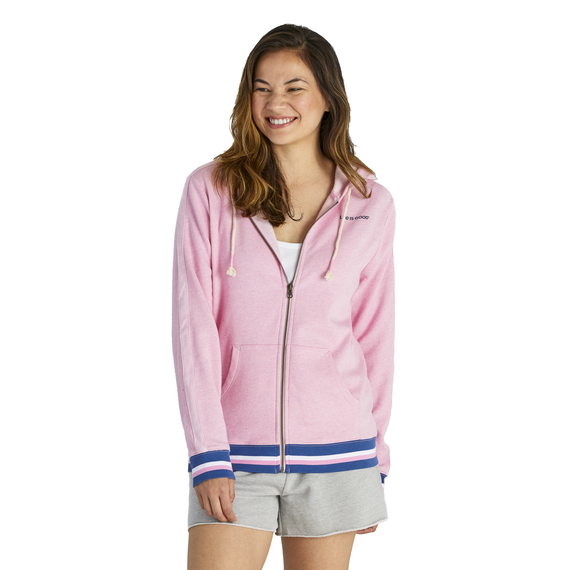 Women's Mountain Vibes Simply True Zip French Terry Hoodie