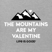 Women's Mountains Are My Valentine Crusher Vee