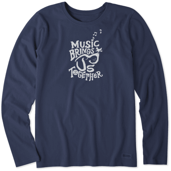 Women's Music Brings Us Together Long Sleeve Crusher Tee