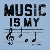 Women's Music Is My BFF Crusher Vee