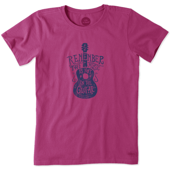 Women's Music Is Not In The Guitar Crusher Tee