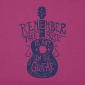 Women's Music Is Not In The Guitar Crusher Tee