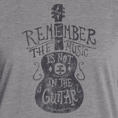 Women's Music Is Not In The Guitar Ringer Cool Tee