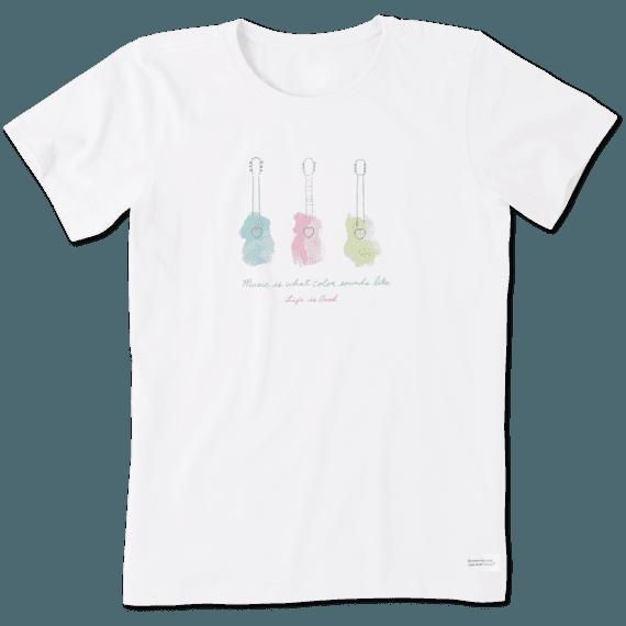Women's Music Watercolor Crusher Tee