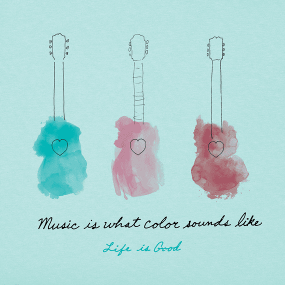 Women's Music Watercolor Crusher Vee