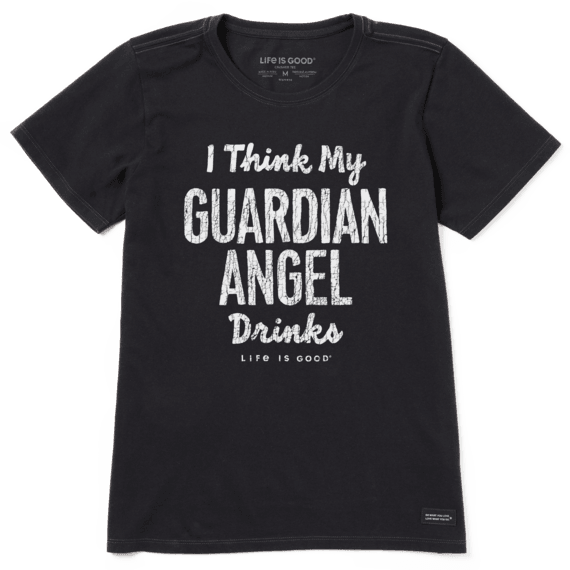 Women S My Guardian Angel Drinks Crusher Tee Life Is Good Official Site