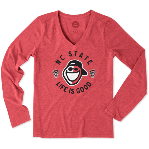 Women's NC State Face Paint Jake Long Sleeve Cool Vee