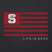 Women's NC State Team Flag Cool Vee