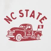 Women's NC State Vintage Truck Long Sleeve Cool Vee