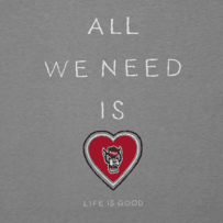 Women's NC State Wolfpack All We Need Heart Cool Vee