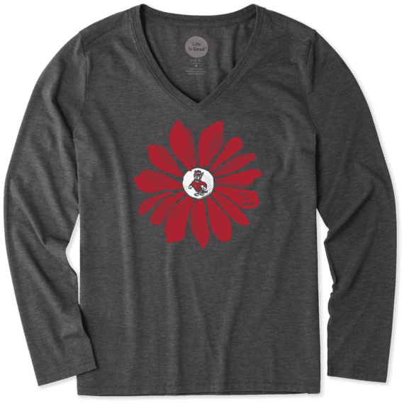 Women's NC State Wolfpack Daisy Long Sleeve Cool Vee