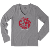 Women's NC State Wolfpack Dwyl Circle Long Sleeve Cool Vee