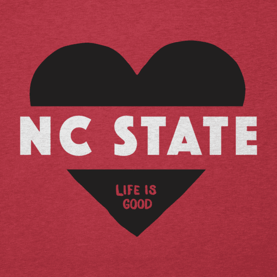 Women's NC State Wolfpack Heart Knockout Cool Vee