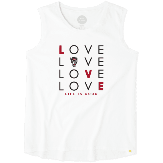 Women's NC State Wolfpack Love Stack Sleeveless Tee