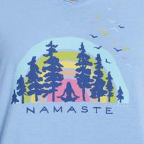 Women's Namaste Breathe Deep Hooded Long Sleeve Smooth Tee