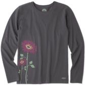 Women's Namaste Daisies Long Sleeve Crusher Tee