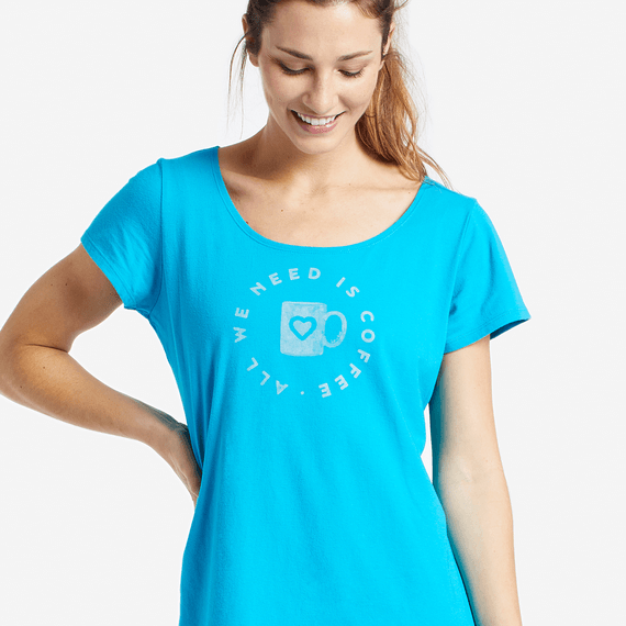 Women's Need Coffee Sleep Tee Dress