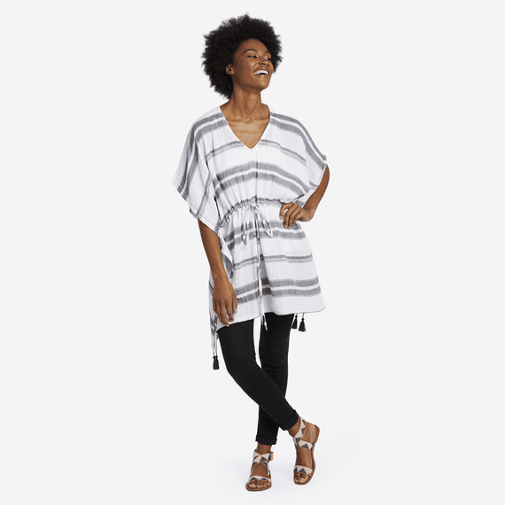Women's Neutral Stripe Summer Breeze Tunic
