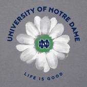 Women's Notre Dame Daisy Long Sleeve Cool Vee