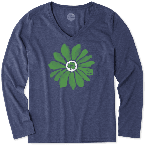 Women's Notre Dame Daisy Long Sleeve Cool Vee