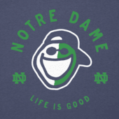 Women's Notre Dame Face Paint Long Sleeve Cool Vee