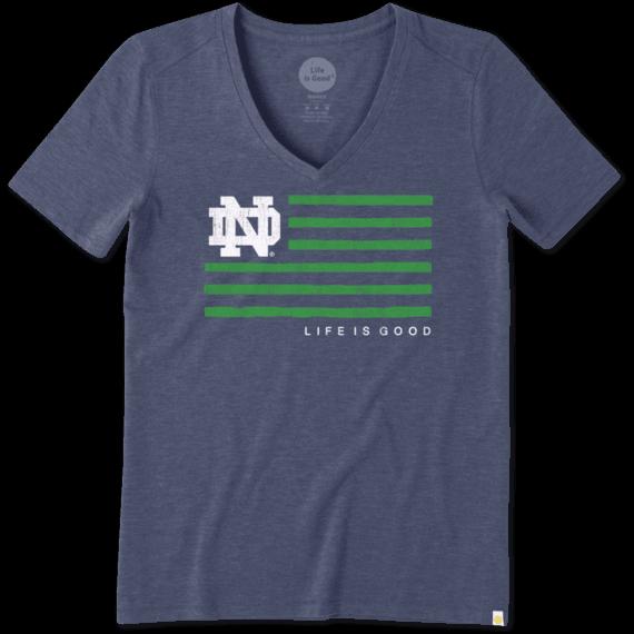 Women's Notre Dame Flag Cool Vee