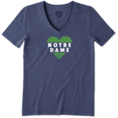 Women's Notre Dame Heart Knockout Cool Vee
