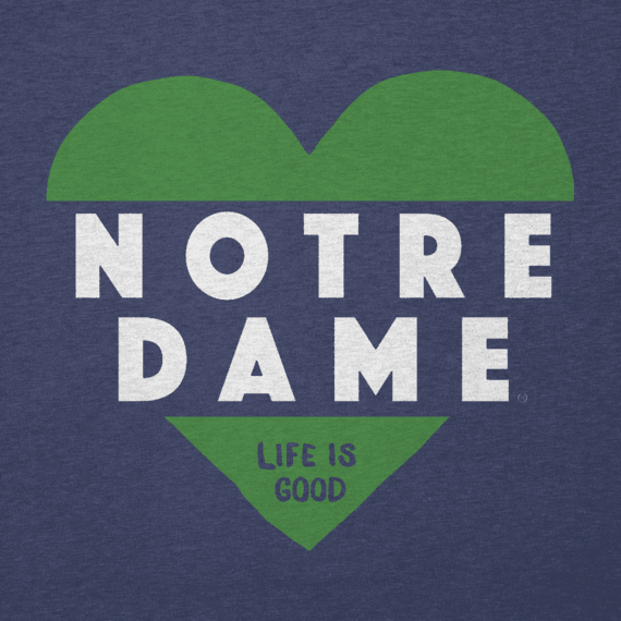 Women's Notre Dame Heart Knockout Cool Vee