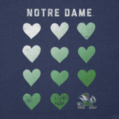 Women's Notre Dame Heart Stack Cool Vee